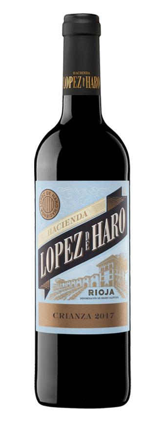 Tecnovino vinos más vendidos de Bodeboca Hacienda López de Haro Crianza
