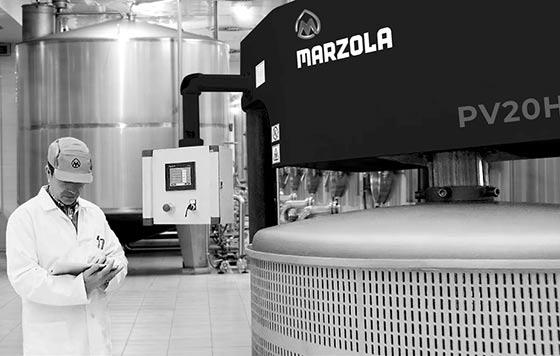 Tecnovino Marzola maquinaria vitivinícola detalle