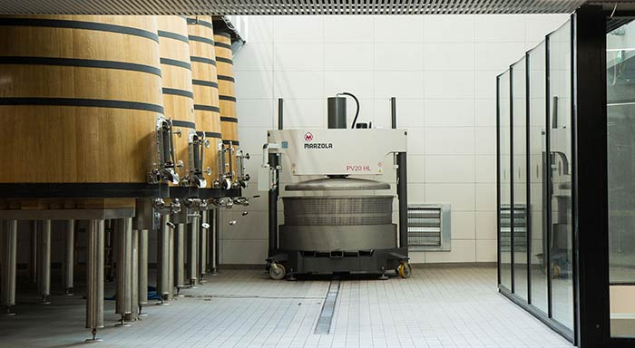 Tecnovino Marzola maquinaria vitivinícola prensa
