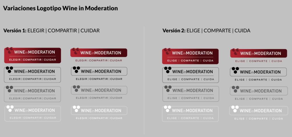 Tecnovino Wine in Moderation logotipos