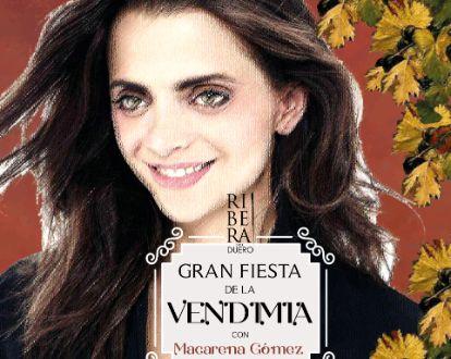Tecnovino la actriz Macarena Gómez madrina de la Gran Fiesta del Vino de Aranda de Duero