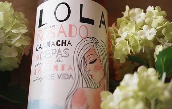 Tecnovino Lola 2020 vino rosado de Delgado Zuleta detalle