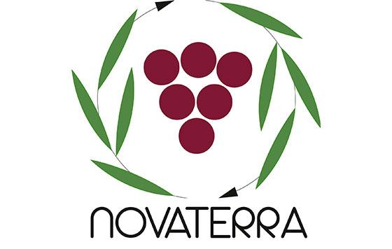 Tecnovino Novaterra sostenibilidad en vinedos y olivares logo detalle