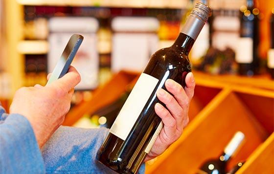 Tecnovino etiquetado electronico de vino detalle