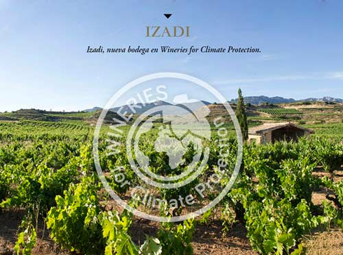 Tecnovino Bodegas Izadi certificado Wineries for Climate Protection