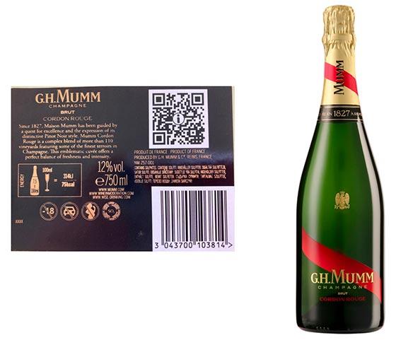 Tecnovino etiquetado digital de vino U-Label GH Mumm