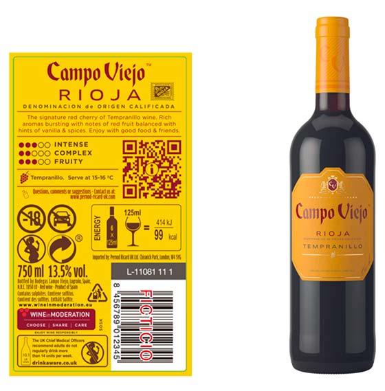 Tecnovino etiquetado digital de vino U-Label Pernod Ricard